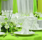 Arranged table Stock Images