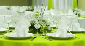 Arranged table Stock Photos