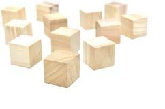 Arranged Wood cube on white background. Stock Photos
