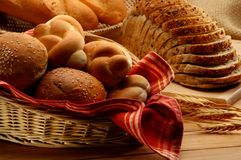 Arrangement of baked food Royalty Free Stock Images