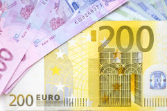 Arrangement of banknotes Royalty Free Stock Photo