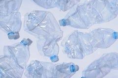 Arrangement of plastic bottles stock image