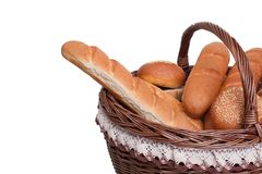 Arrangement of bread in basket Royalty Free Stock Photography