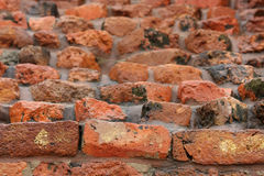 Arrangement of bricks in old Mulgandhakuti ruins Royalty Free Stock Image