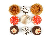 Arrangement of Cakes Stock Images