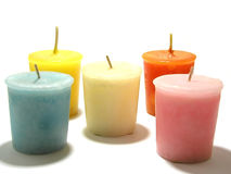 Arrangement of Candles Royalty Free Stock Images