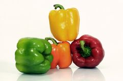 Arrangement of capsicums Stock Photo