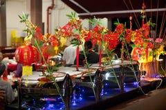 Arrangement chinois de buffet de nouvelle année photos stock
