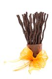 Arrangement with chocolate sticks Stock Images