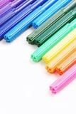Arrangement of color pens. Arrangement of magic color pens Royalty Free Stock Photography