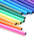 Arrangement of color pens Stock Photos