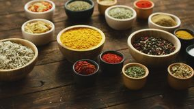 Composition of various spices and condiments