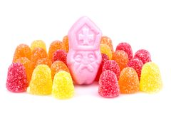 Arrangement of colorful sweets. Candy at Dutch Sinterklaas event Stock Image