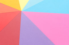 Arrangement of construction paper Stock Photography