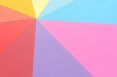 Arrangement of construction paper. Star-shaped arrangement of colorful construction paper Stock Photography