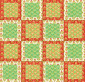 Arrangement of cotton squares for a quilting project Royalty Free Stock Photo