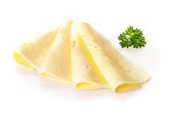 Arrangement of creamy Swiss cheese Royalty Free Stock Photos