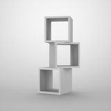 Arrangement of cubes. Abstract container for storage Stock Images