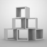 Arrangement of cubes. Abstract container for storage Royalty Free Stock Image