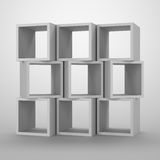 Arrangement of cubes. Stock Image