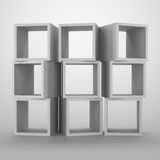 Arrangement of cubes. Abstract container for storage Royalty Free Stock Photography