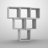 Arrangement of cubes. Royalty Free Stock Photos