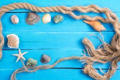 Arrangement d'été avec des peu fond de Marine Items Photographie stock libre de droits