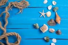 Arrangement d'été avec des peu fond de Marine Items Image libre de droits