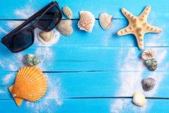 Arrangement d'été avec des peu fond de Marine Items Image stock