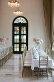 Arrangement de banquet de réception de mariage Image libre de droits