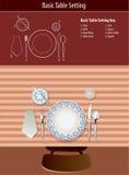 Arrangement de base de table Image stock