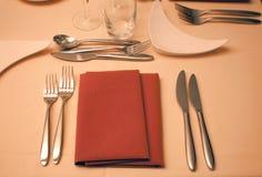 Arrangement de dîner Images stock