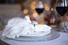 Arrangement de fête de table, arrangement de table Images stock