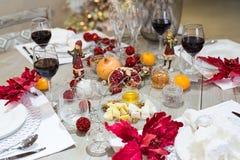 Arrangement de fête de table, arrangement de table Photos libres de droits