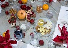 Arrangement de fête de table, arrangement de table Photo libre de droits