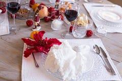 Arrangement de fête de table, arrangement de table Images libres de droits