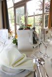 Arrangement de luxe de table Photo libre de droits