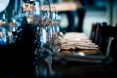Arrangement de luxe de table photographie stock