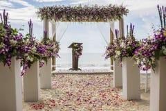 Arrangement de mariage Photographie stock libre de droits