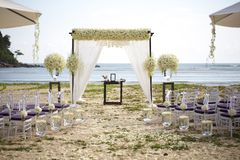 Arrangement de mariage Photos stock