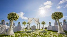 Arrangement de mariage de porte Image stock