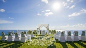 Arrangement de mariage de porte Photo libre de droits