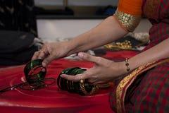 Arrangement de mes bracelets verts ! Photos stock