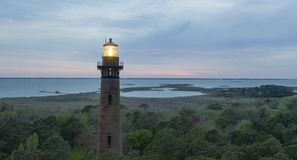 Arrangement de Sun aux banques externes la Caroline du Nord de phare de Currituck image stock