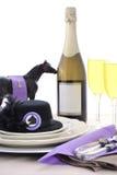 Arrangement de table de déjeuner de dames de jour de course de cheval Image libre de droits