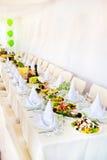 Arrangement de table de mariage Images stock