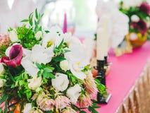 Arrangement de table de mariage de dîner Image stock