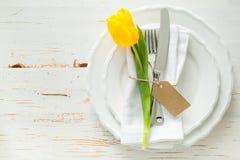 Arrangement de table de Pâques Photo stock