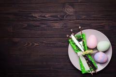 Arrangement de table de Pâques Images libres de droits