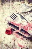 Arrangement de table de St Valentine Images stock